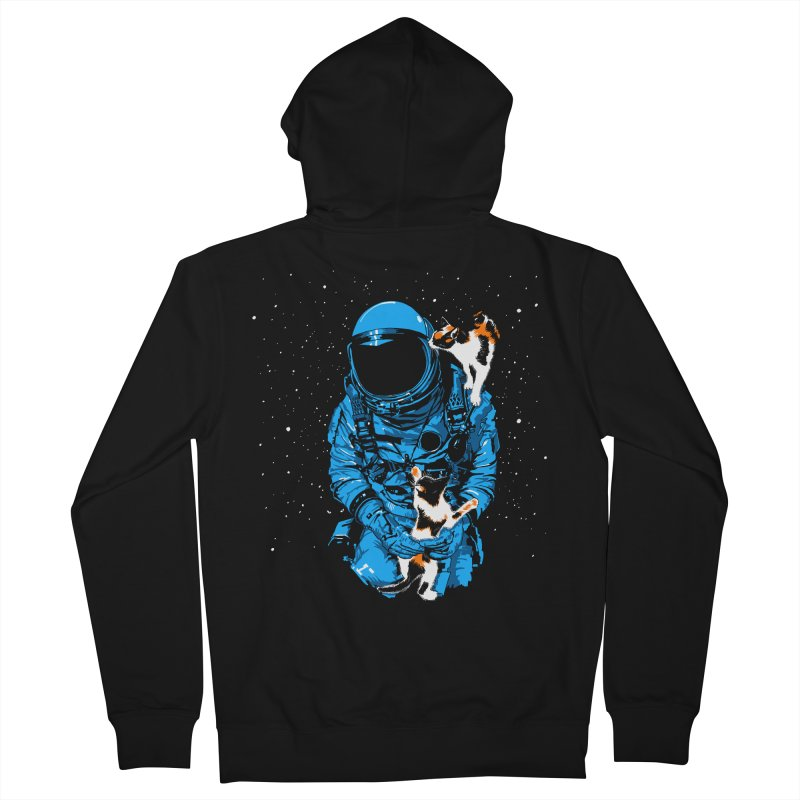 Meow More Space Men's Zip-Up Hoody by zerobriant's Meow Shop