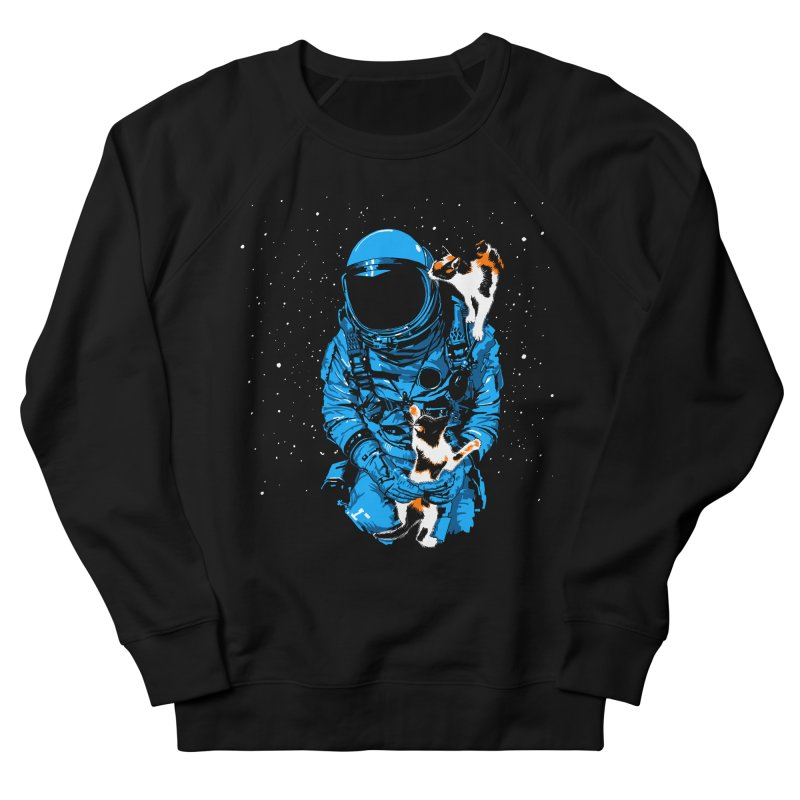 Meow More Space Women's French Terry Sweatshirt by zerobriant's Meow Shop