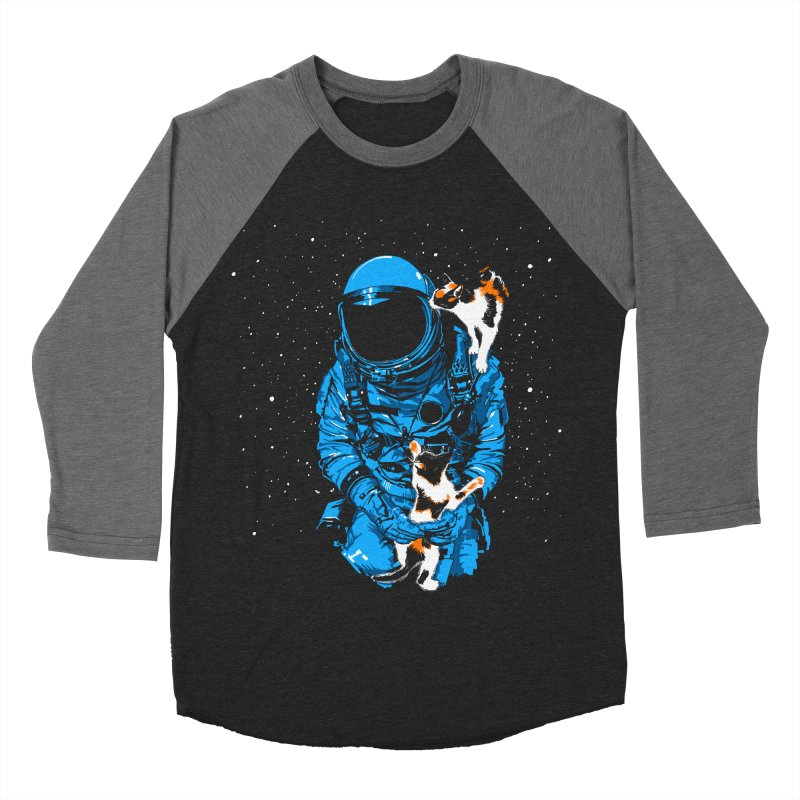 Meow More Space Men's Baseball Triblend T-Shirt by zerobriant's Meow Shop