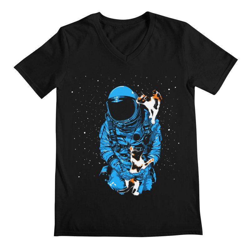 Meow More Space Men's V-Neck by zerobriant's Meow Shop