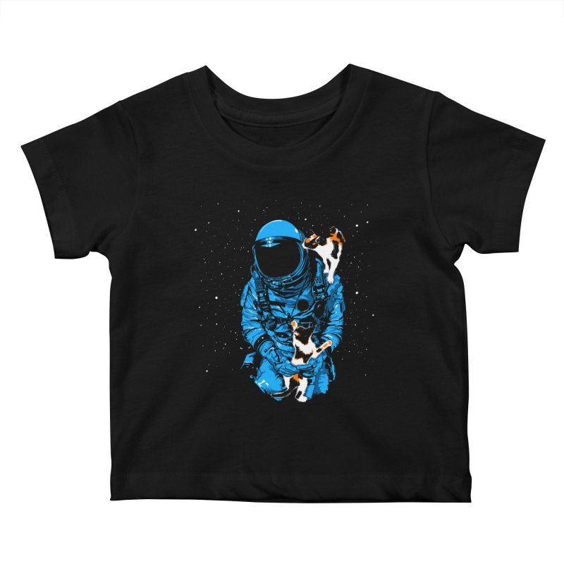 Meow More Space Kids Baby T-Shirt by zerobriant's Meow Shop