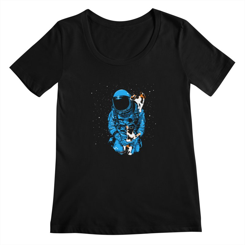 Meow More Space Women's Scoopneck by zerobriant's Meow Shop