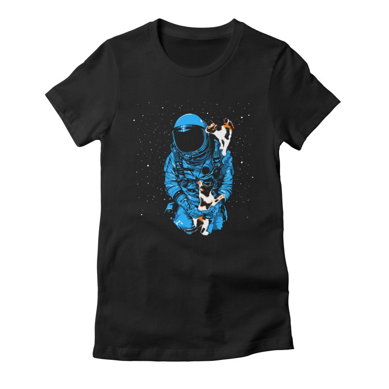 Meow More Space Women's Fitted T-Shirt by zerobriant's Meow Shop