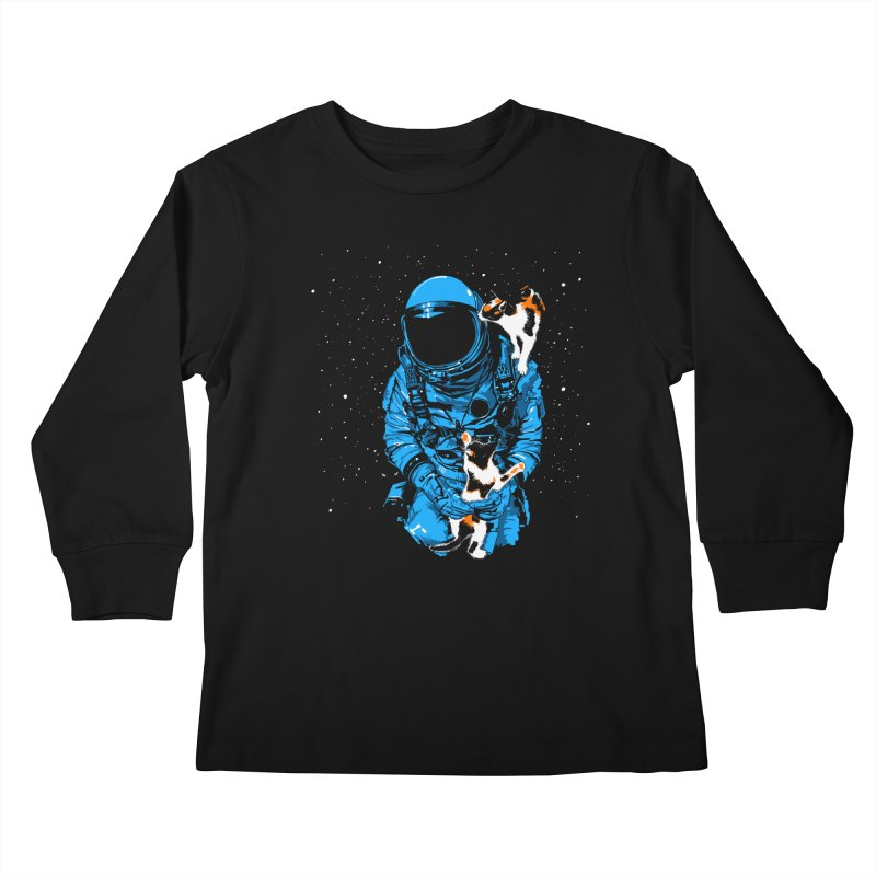 Meow More Space Kids Longsleeve T-Shirt by zerobriant's Meow Shop
