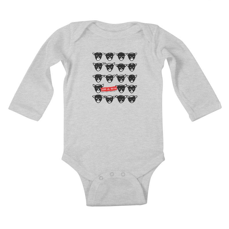 Meows Kids Baby Longsleeve Bodysuit by zerobriant's Meow Shop