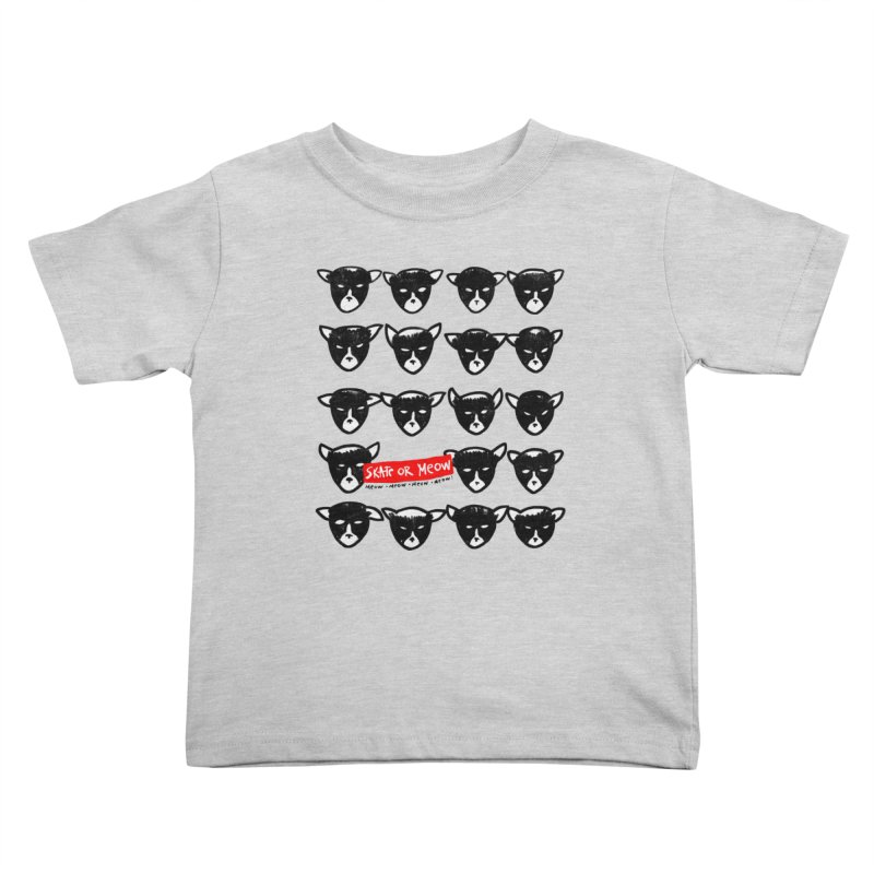 Meows Kids Toddler T-Shirt by zerobriant's Meow Shop