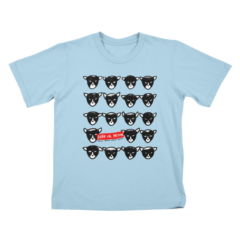 Meows Kids T-shirt by zerobriant's Meow Shop