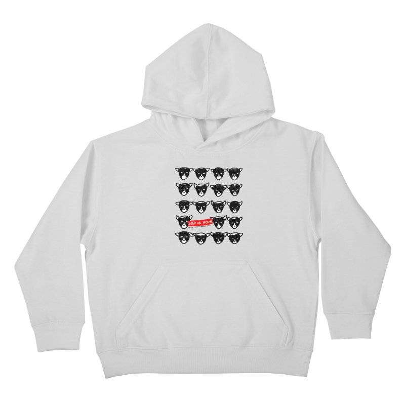 Meows Kids Pullover Hoody by zerobriant's Meow Shop