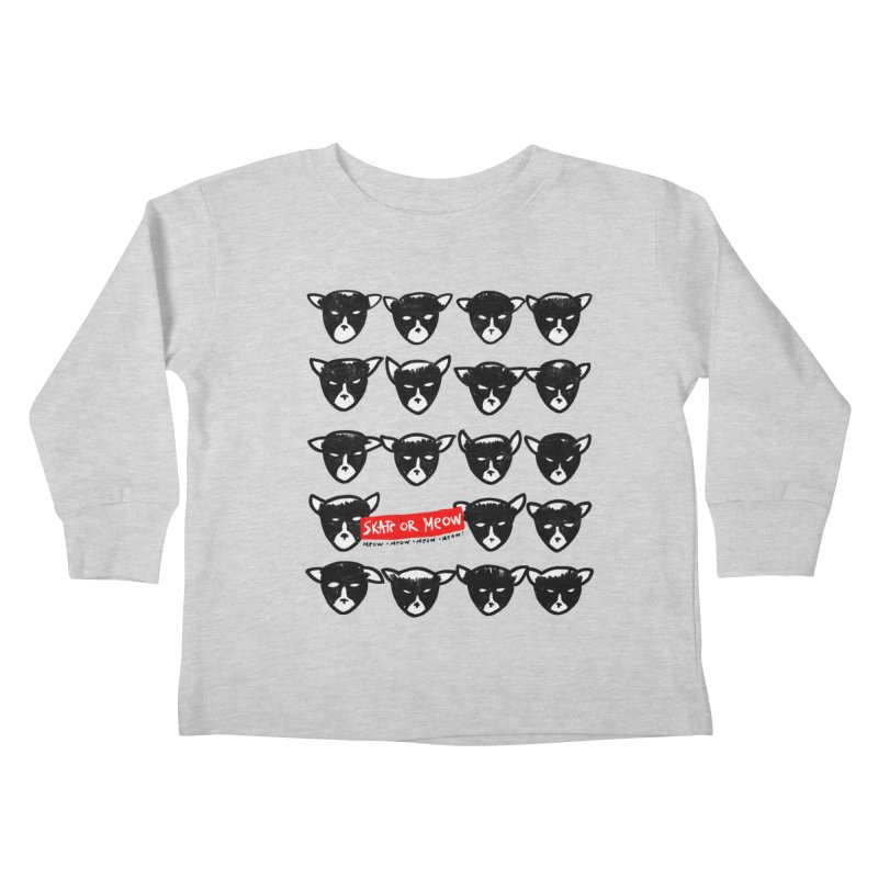Meows Kids Toddler Longsleeve T-Shirt by zerobriant's Meow Shop