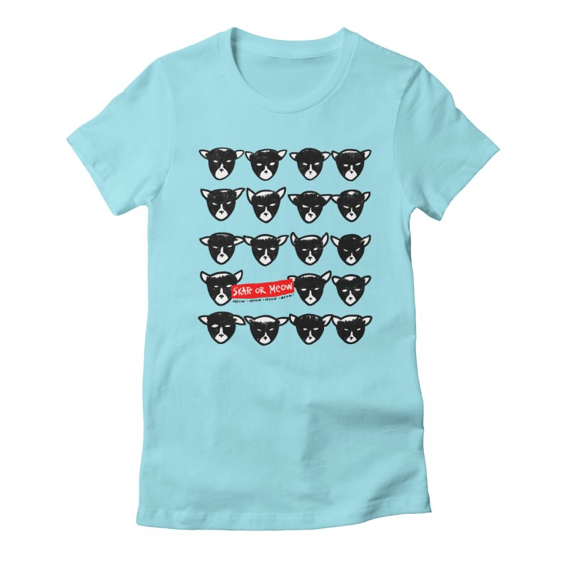 Meows Women's Fitted T-Shirt by zerobriant's Meow Shop