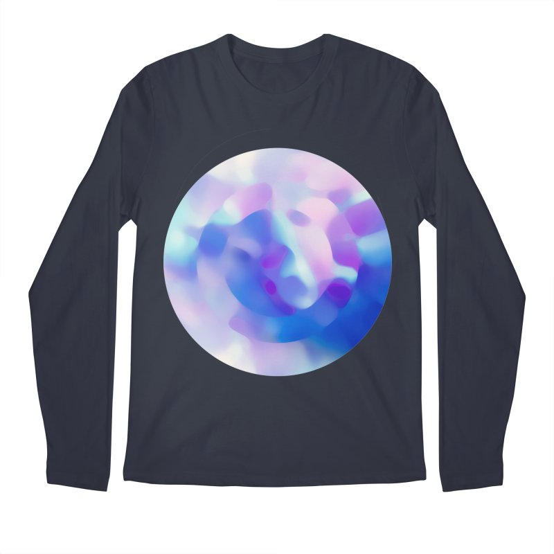 Blue Men's Regular Longsleeve T-Shirt by zeroing 's Artist Shop