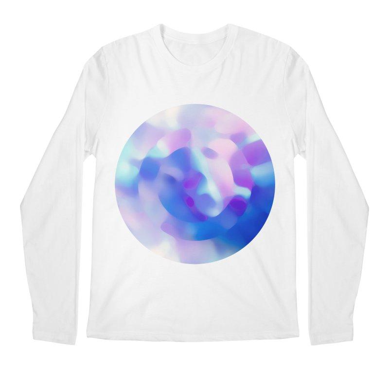 Blue Men's Regular Longsleeve T-Shirt by zeroing 's Artist Shop