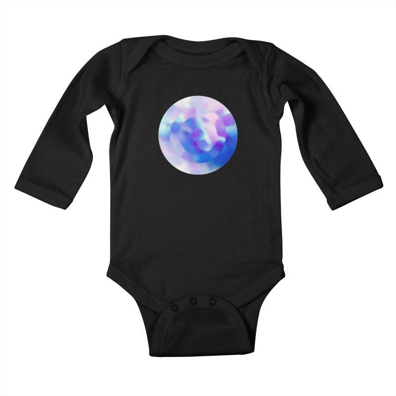 Blue Kids Baby Longsleeve Bodysuit by zeroing 's Artist Shop