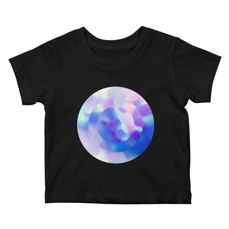 Blue Kids Baby T-Shirt by zeroing 's Artist Shop