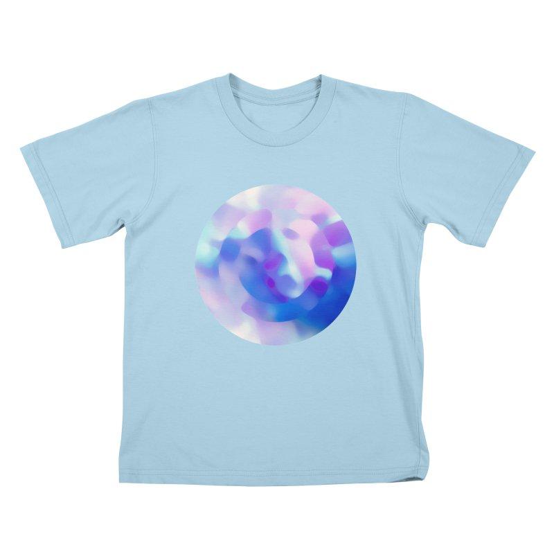 Blue Kids T-Shirt by zeroing 's Artist Shop