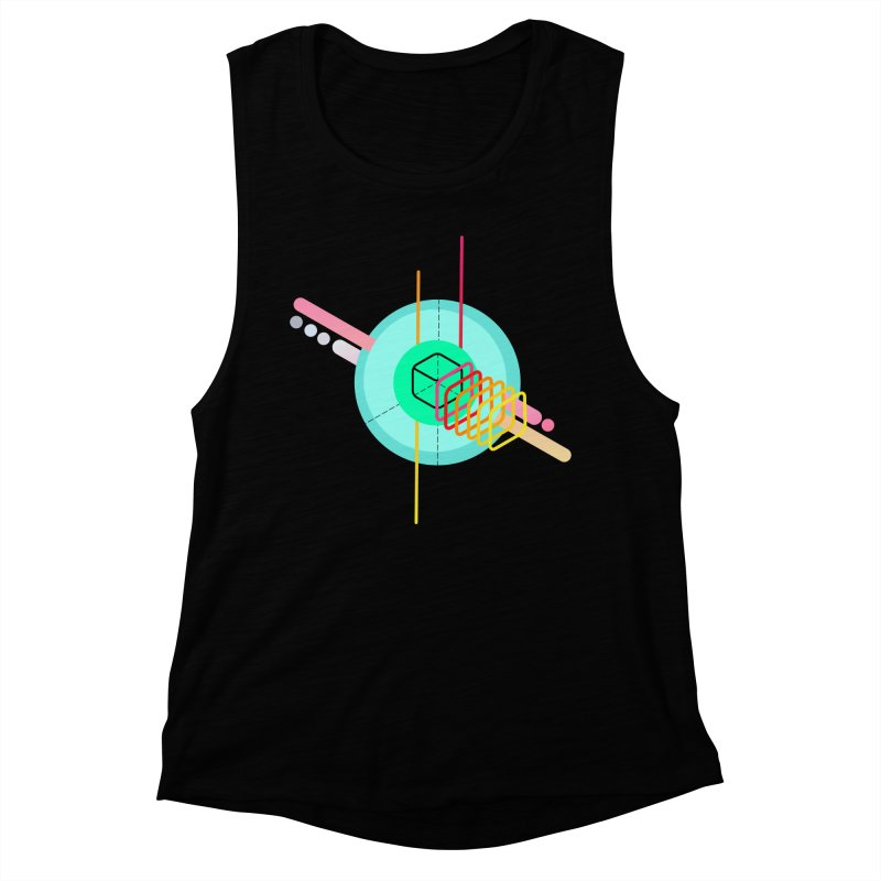 Composition 8 Women's Muscle Tank by zeroing 's Artist Shop