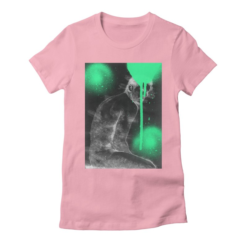 Nude nº 3 Women's Fitted T-Shirt by zeroing 's Artist Shop