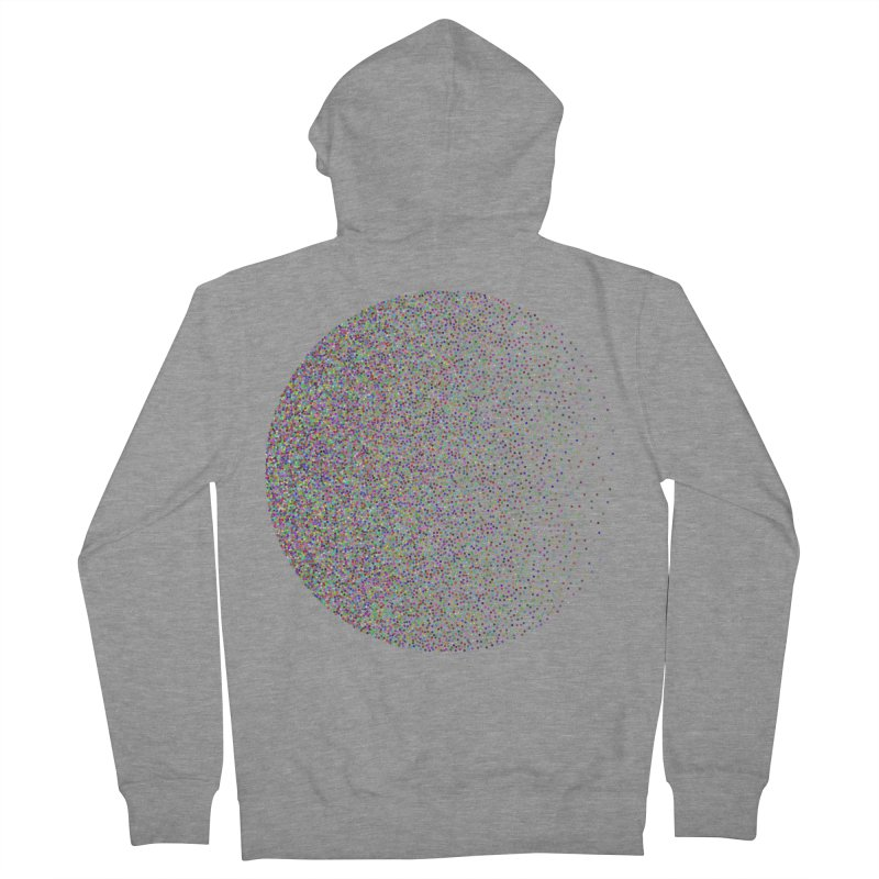 Pointilism in a Circle Women's French Terry Zip-Up Hoody by zeroing 's Artist Shop