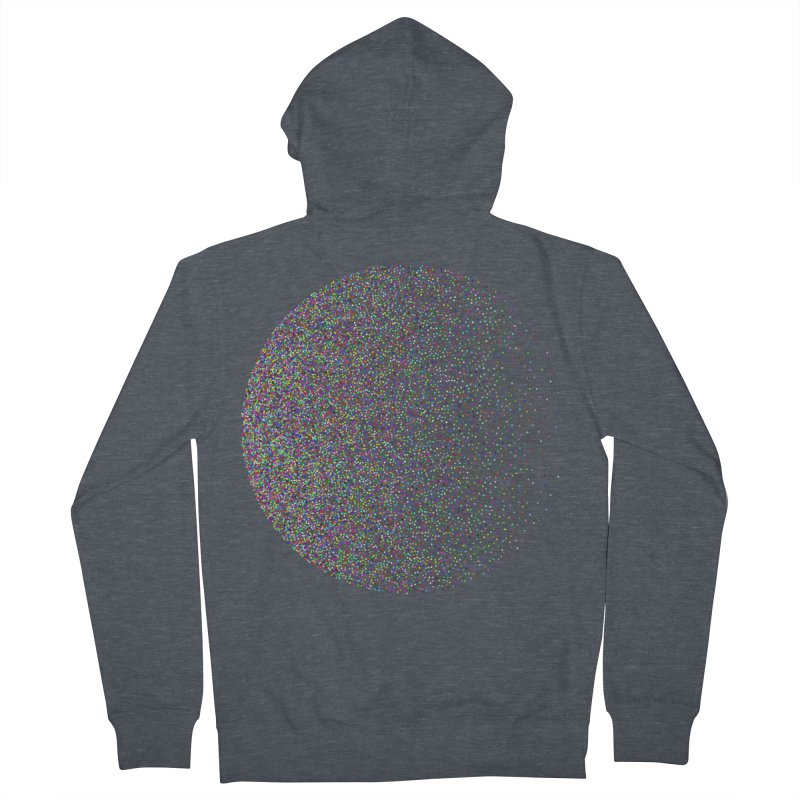 Pointilism in a Circle Men's French Terry Zip-Up Hoody by zeroing 's Artist Shop