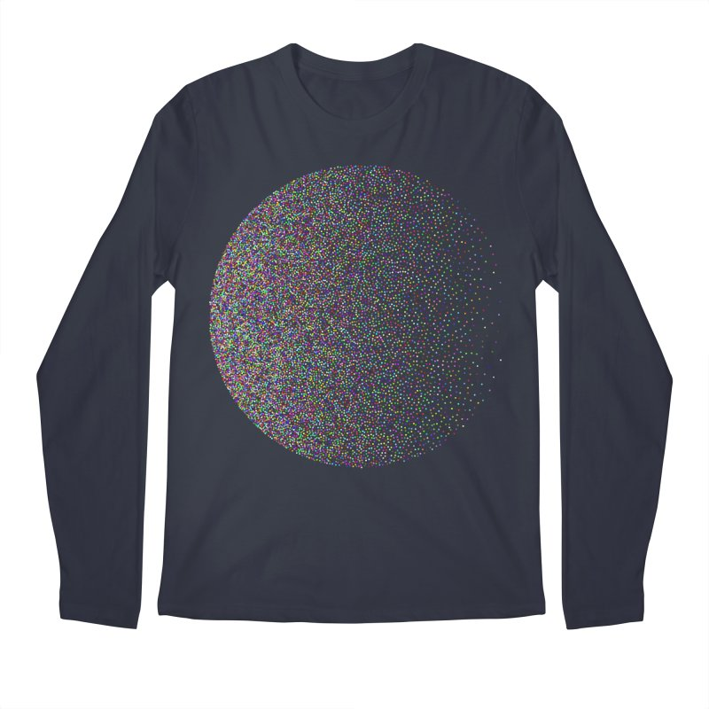 Pointilism in a Circle Men's Regular Longsleeve T-Shirt by zeroing 's Artist Shop