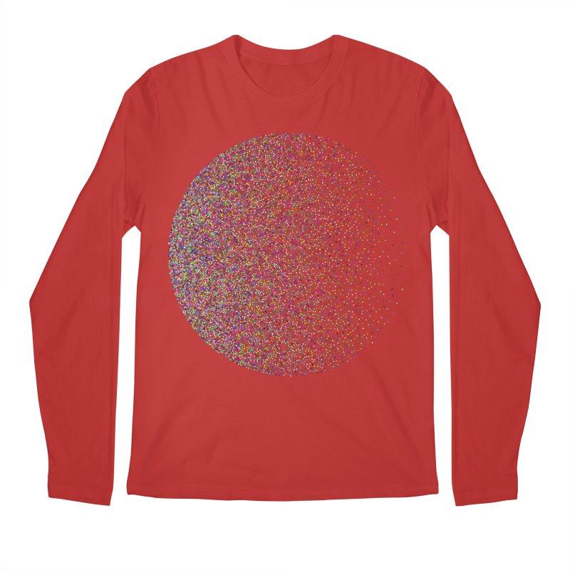 Pointilism in a Circle Men's Regular Longsleeve T-Shirt by zeroing 's Artist Shop