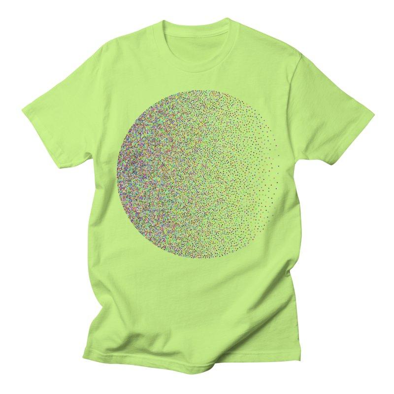 Pointilism in a Circle Men's Regular T-Shirt by zeroing 's Artist Shop