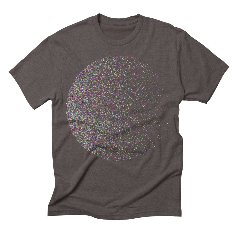 Pointilism in a Circle Men's Triblend T-Shirt by zeroing 's Artist Shop