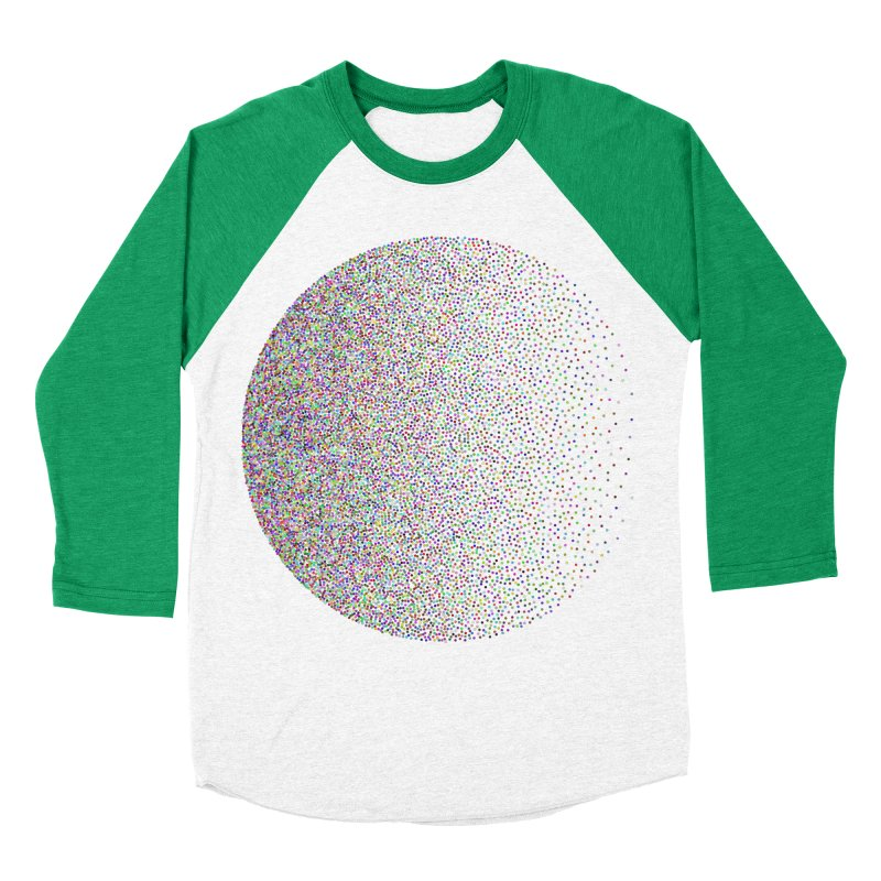 Pointilism in a Circle Women's Baseball Triblend Longsleeve T-Shirt by zeroing 's Artist Shop