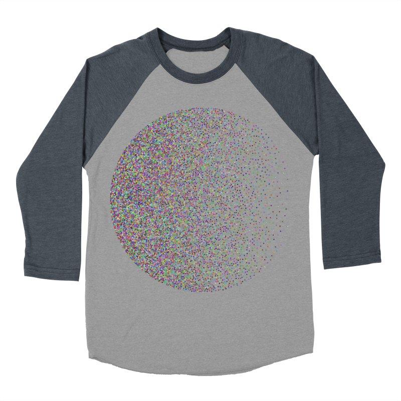 Pointilism in a Circle Women's Baseball Triblend Longsleeve T-Shirt by zeroing 's Artist Shop