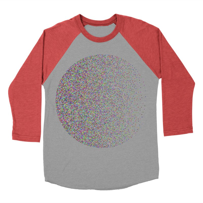 Pointilism in a Circle Men's Baseball Triblend Longsleeve T-Shirt by zeroing 's Artist Shop