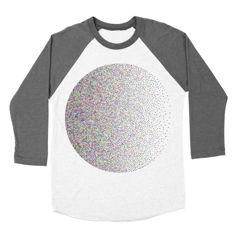 Pointilism in a Circle Men's Baseball Triblend Longsleeve T-Shirt by zeroing 's Artist Shop