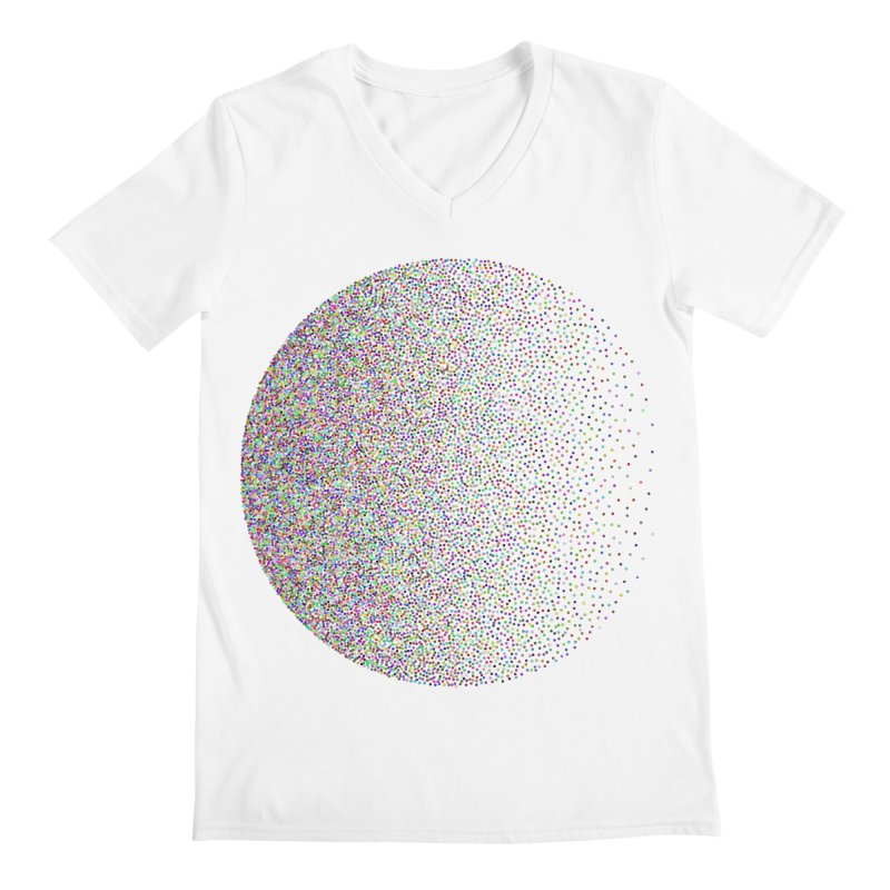 Pointilism in a Circle Men's Regular V-Neck by zeroing 's Artist Shop