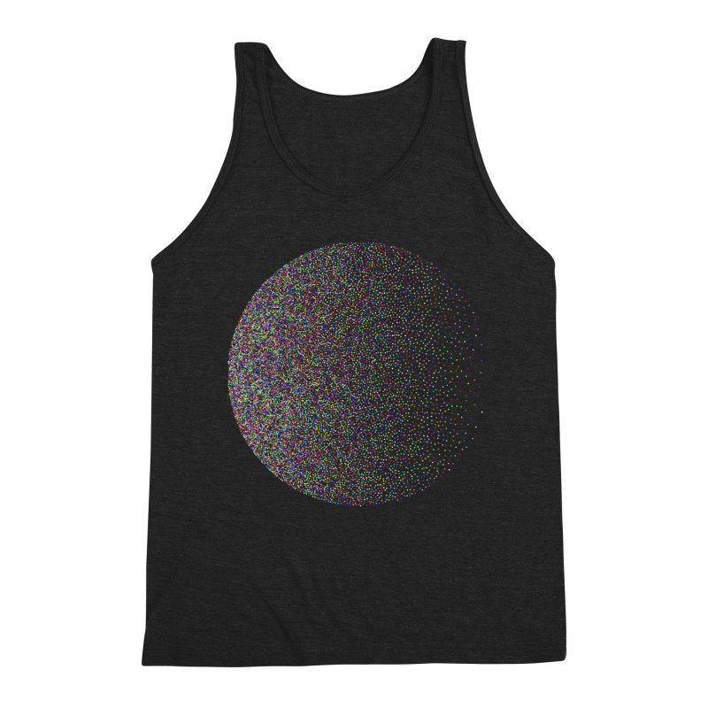 Pointilism in a Circle Men's Triblend Tank by zeroing 's Artist Shop