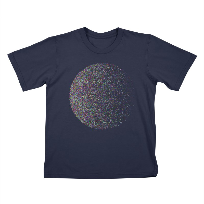 Pointilism in a Circle Kids T-Shirt by zeroing 's Artist Shop
