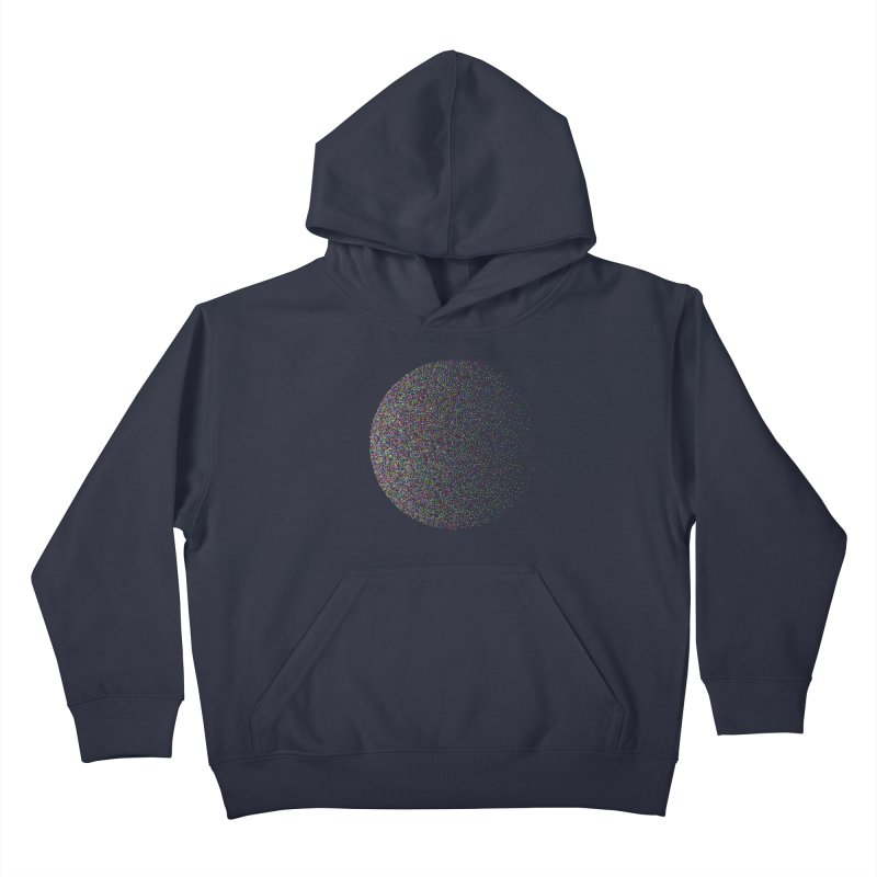Pointilism in a Circle Kids Pullover Hoody by zeroing 's Artist Shop