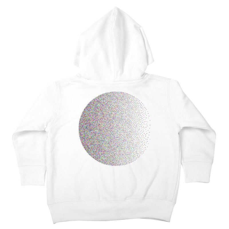 Pointilism in a Circle Kids Toddler Zip-Up Hoody by zeroing 's Artist Shop