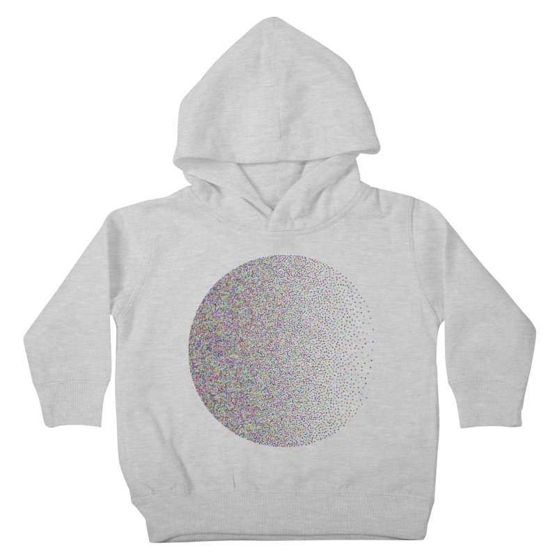 Pointilism in a Circle Kids Toddler Pullover Hoody by zeroing 's Artist Shop