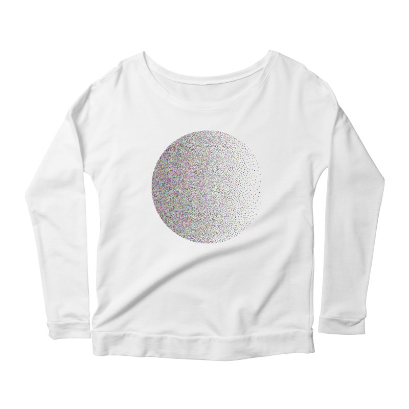 Pointilism in a Circle Women's Scoop Neck Longsleeve T-Shirt by zeroing 's Artist Shop