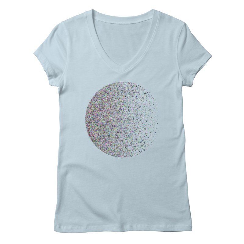 Pointilism in a Circle Women's Regular V-Neck by zeroing 's Artist Shop