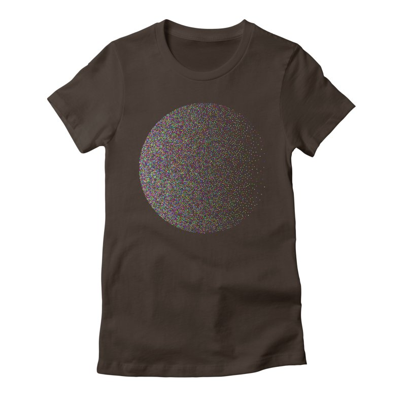Pointilism in a Circle Women's Fitted T-Shirt by zeroing 's Artist Shop