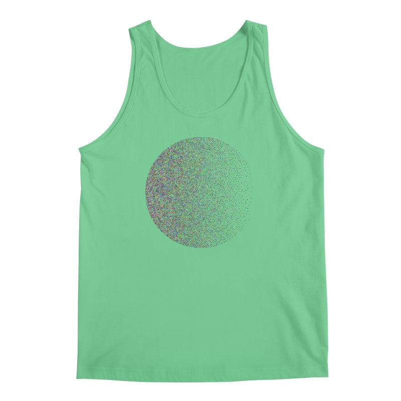 Pointilism in a Circle Men's Regular Tank by zeroing 's Artist Shop