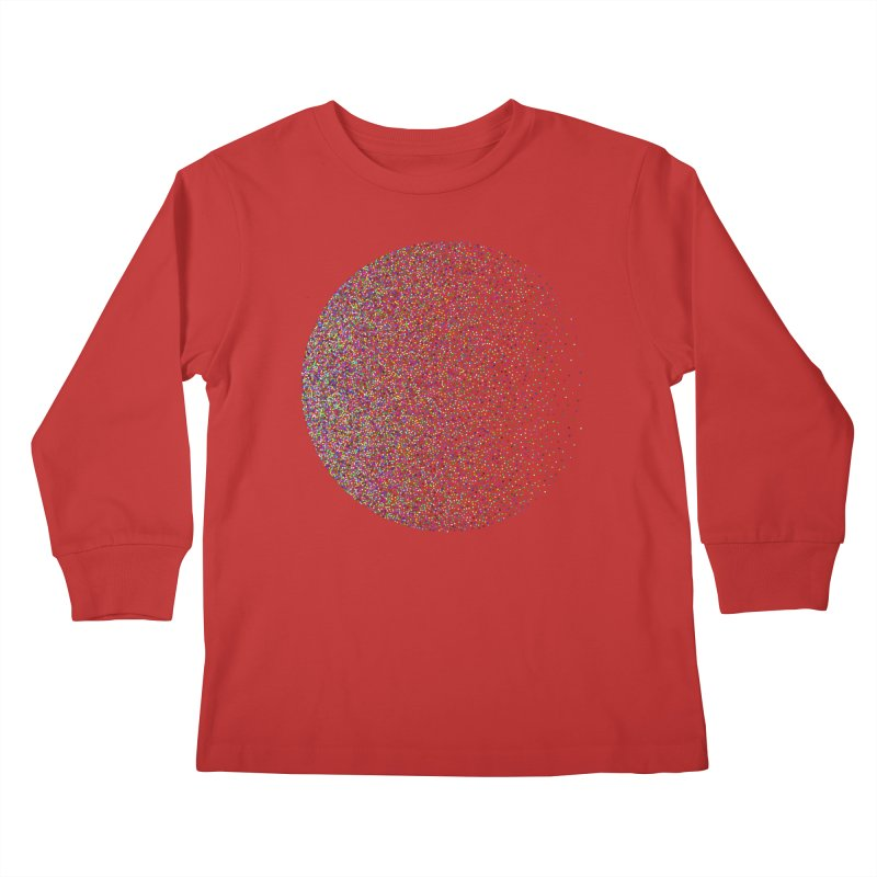 Pointilism in a Circle Kids Longsleeve T-Shirt by zeroing 's Artist Shop