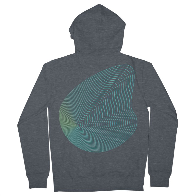 Ripple Men's French Terry Zip-Up Hoody by zeroing 's Artist Shop