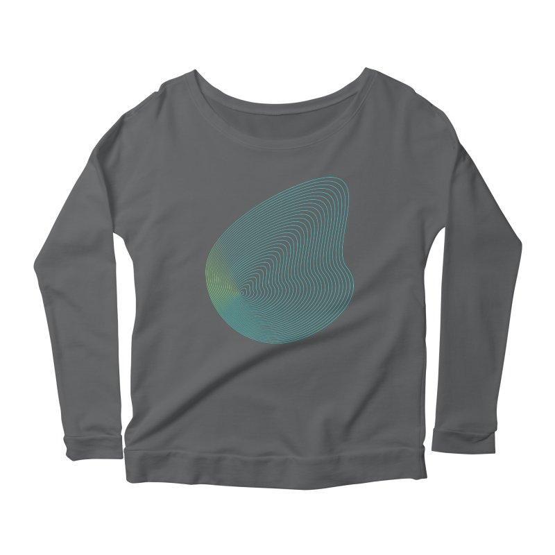 Ripple Women's Scoop Neck Longsleeve T-Shirt by zeroing 's Artist Shop