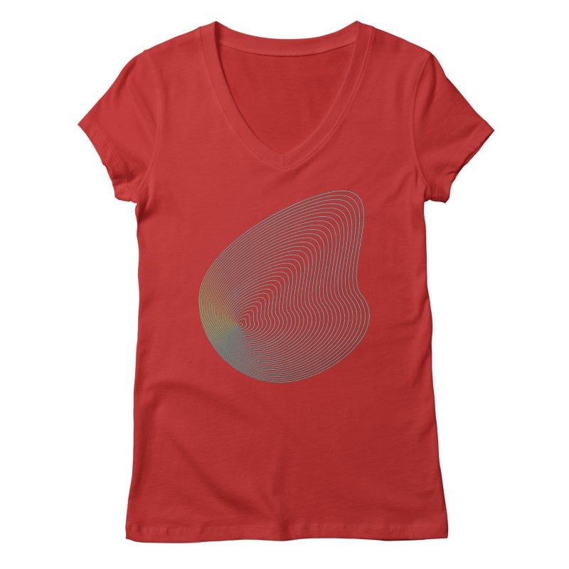 Ripple Women's Regular V-Neck by zeroing 's Artist Shop
