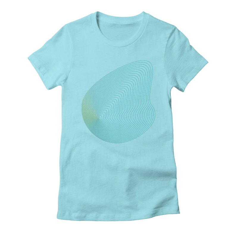 Ripple Women's Fitted T-Shirt by zeroing 's Artist Shop
