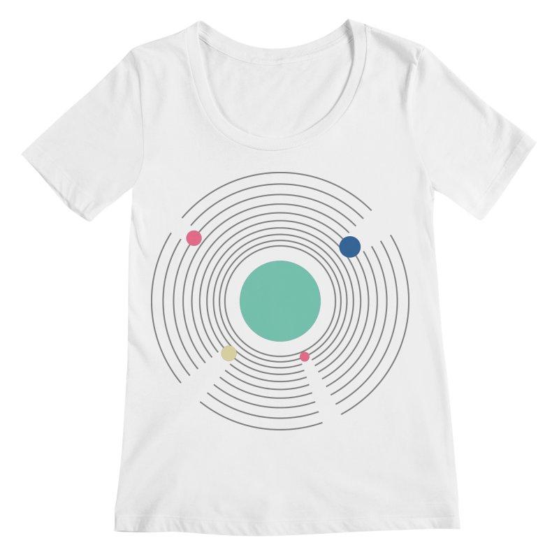 Orbit Women's Regular Scoop Neck by zeroing 's Artist Shop