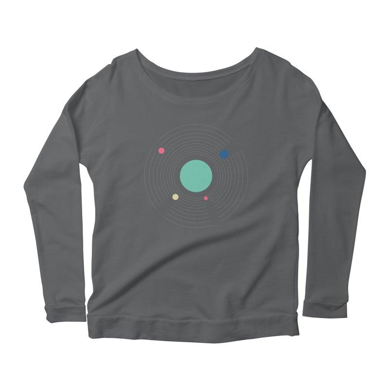Orbit Women's Scoop Neck Longsleeve T-Shirt by zeroing 's Artist Shop
