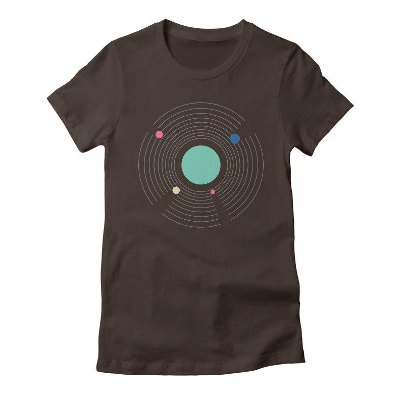 Orbit Women's Fitted T-Shirt by zeroing 's Artist Shop