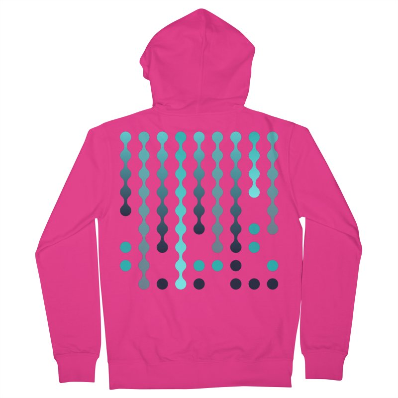 Droplets  Men's French Terry Zip-Up Hoody by zeroing 's Artist Shop